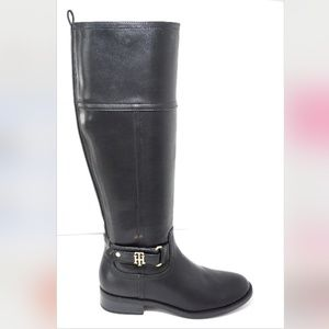🆕Tommy Hilfiger Knee High Riding Boots Black